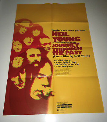 JOURNEY THROUGH THE PAST Movie Poster 1974 Neil Young Rock & Roll CSNY