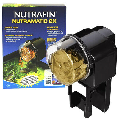 Automatic Fish Food Feeder Aquarium Flake Granules Pellets Feeding Twice Daily