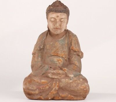 Big Chinese Tibet Hand Carved Wood Reflect On Buddha Statue Figure Collectable