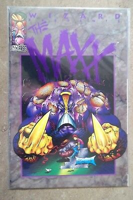 Wizard Image comic THE MAXX #1/2 Purple Foil Edition  COA Certificate