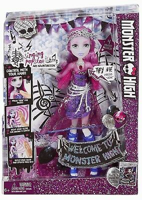 Welcome To Monster High ARI HAUNTINGTON Doll Set Singing Popstar NEW In Box 2016