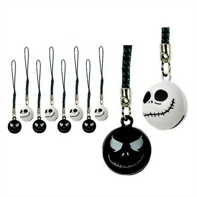Lot Of 10 Jack Skellington Bell Dije Nightmare Before Christmas Teléfono Celular