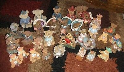 big lot (51) collectible bear figurines