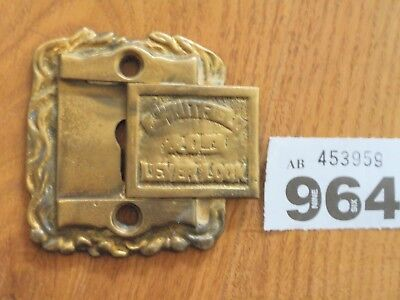 Vintage Whitfield Safe Plaque Plate Key Hole Cover