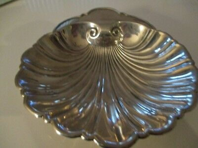 """ANTIQUE GORHAM STERLING SILVER 5"""" SHELL DISH 2.511 OZ.'s"""