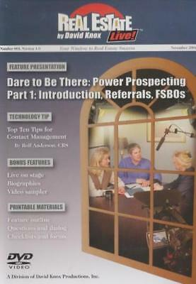 Real Estate Live! By David Knox 001 DVD VIDEO MOVIE Dare Be There Power Prospect