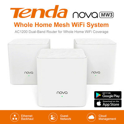 Tenda Nova MW3 (1/2/3-pack) Whole Home Mesh Router WiFi System up to 300m2 AU