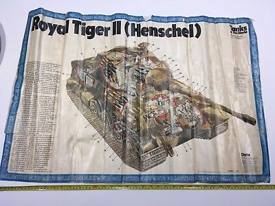 German King  Royal Tiger II Tank Vintage Wall Decoration Paper Poster 70's Print