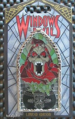 Disney DLR - Pin of the Month - Windows of Evil - Horned King Pin