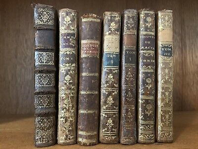 GRAND LOT OF ANTIQUE BOOKS 1700s Enlightenment Collection