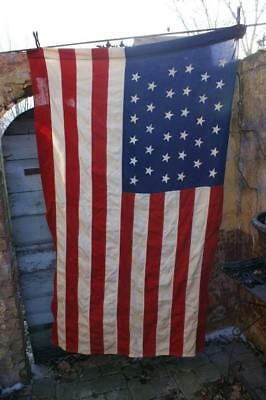 """Large 34 Star Flag Civil War Union Reenactor Very Well Made All Sewn 46"""" x 68"""""""