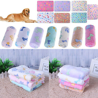 Pet Dog Soft Velvet Warm Blanket Mat Puppy Cat Winter Pad Kennel Cushion Cage