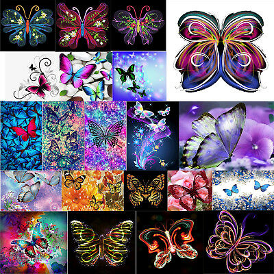 5D DIY Diamond Embroidery Lily Flower and Dragonfly Diamond Painting Cross P4Y2