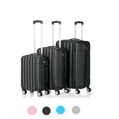 "20 24 28"" 3pcs Luggage Travel Set Bag ABS Trolley Hard Shell Suitcase w/TSA lock"