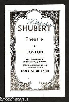 """Hoagy Carmichael """"WALK WITH MUSIC"""" Mary Brian (Signed) 1939 FLOP Tryout Playbill"""