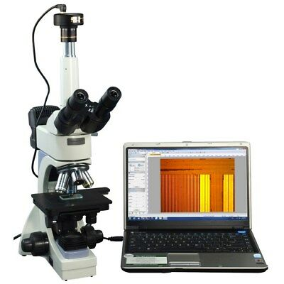 OMAX 40-2000X Infinity Metallurgical Microscope with Dual Lights+1.3MP Camera