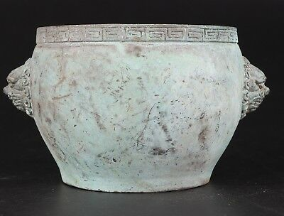 Ancient Chinese Bronze Xiangding Statue Jars Old Buddhist Articles Collection