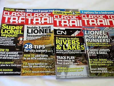 Lot Of 4 2007 Classic Toy Trains Magazines~ Jan, Feb. March May