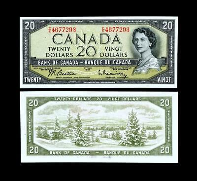 1954 $20 Dollar Banknote Bank Of Canada****~~  Uncirculated