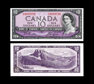 1954 $10 Dollar Banknote Bank Of Canada****~~  Uncirculated