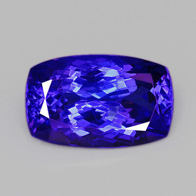 VVS 7.5Ct 100% Natural Unheated AAAAA Violet Blue Tanzanite D'Block QTEgT45