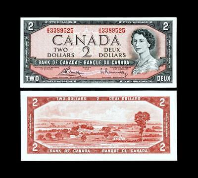 1954 $2 Dollar Banknote Bank Of Canada****~~  Uncirculated