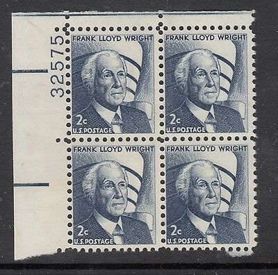 UNITED STATES 2c Wright  Block of 4 With Plate Number MNH