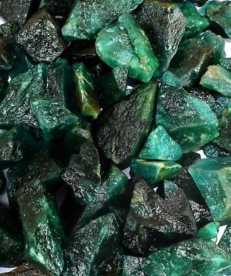 Green Emerald Gemstone Rough Lot 5000 Ct/1Kg Natural Colombian Stock Clearance