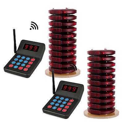 999CH Restaurant Wireless Calling Page Queuing System 2*Transmitter+20*Pager