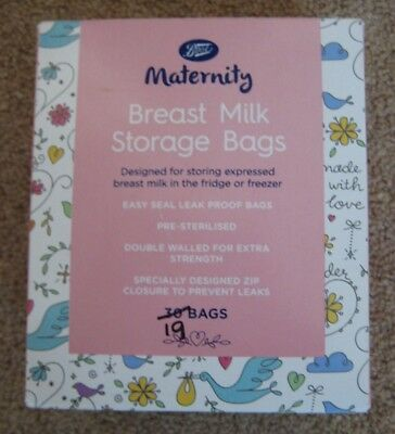 Boots Breast Milk Storage Bags - 19 Only in Box