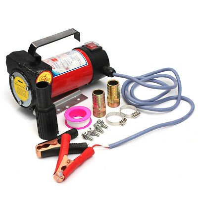 1x 12V 24V Portable Electric Fuel Diesel Oil Transfer Pump Self Priming 40L/Min