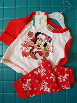 Disney Baby Ready for Santa Minnie Mouse Christmas Cotton Long PJ's Pyjama Set