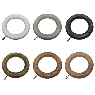 Swish Forever Autumn 35mm Wooden Curtain Pole Rings
