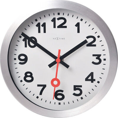 Nextime Wall Clock Ø19cm Table Railway Station Silent White Living Room Watch