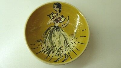 Martin Boyd Hand Painted Wall Plate Lady  Signed