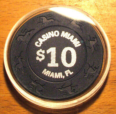 $10. CASINO MIAMI Casino CHIP - Miami, Florida - 1997 - Unicorn Mold