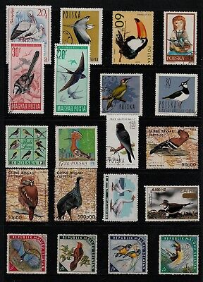 BIRDS Thematic STAMPS Collection MINT and USED Ref:TS938