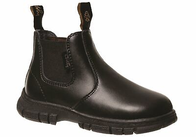 New Grosby Ranch Junior Kids Leather Pull On Boots