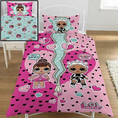 Lol Surprise Opposites Single Duvet Cover Set Reversible Kids Bedding