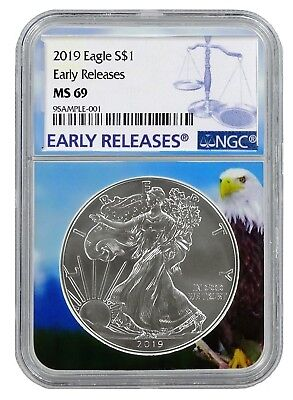 2019 1oz Silver Eagle NGC MS69 - Early Releases - Eagle Core