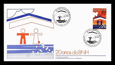 Dr Jim Stamps Economy 20 Years Bnh Fdc Brazil Monarch Size Cover 1984