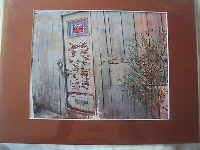 """Baltimore City Listed by ARTIST Mixed Media Abstract Art """"Lock"""""""