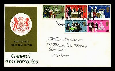 Dr Jim Stamps General Anniversaries Fdc Combo United Kingdom European Size Cover