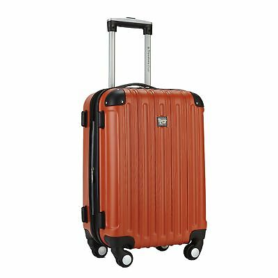 Travelers Club Luggage Madison 20 Inch Expandable Hardside Carry, Orange