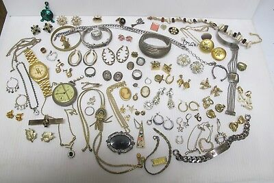Lot of Asst Vintage Costume Jewelry~For Wear-Repair-Craft-Steam Punk~Over 2lbs