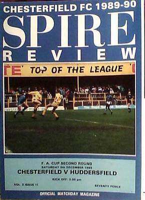 CHESTERFIELD v HUDDERSFIELD TOWN  89-90 FA CUP MATCH