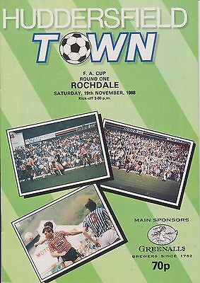HUDDERSFIELD TOWN v ROCHDALE 88-89 FA CUP MATCH