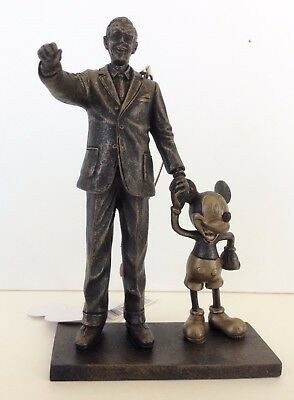 """Disney Parks Walt Disney and Mickey Mouse """"Partners"""" Statue Figurine Ornament"""