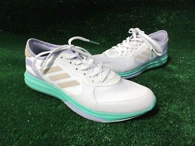 6a8e6a50f87b NEW Adidas Women s Stellasport Yvori Running Shoes White  Aqua Size 10.5
