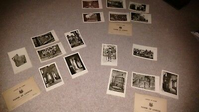 "Rare 3 x sets of ""Ministry of Works"" Vintage Tower of London Postcards 2/- 1950s"